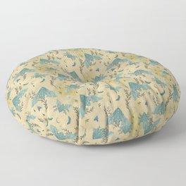Luna and Moth - Oriental Vintage Floor Pillow