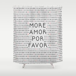 More Amor Black & Red, Heart Pattern Shower Curtain