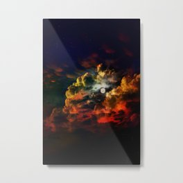 cloudy night Metal Print
