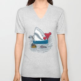 Great White North Shark Unisex V-Neck