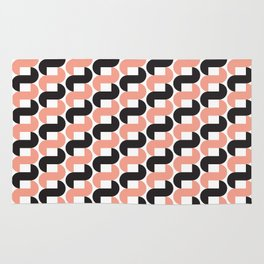 Geometric Pattern #184 (pink black knots) Rug