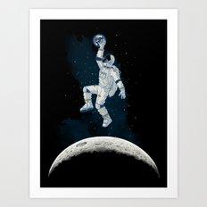 SPACE SLAM DUNK Art Print