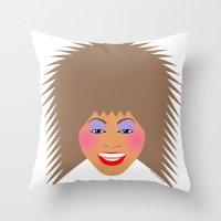 tina Throw Pillows featuring Greatest Tina by tuditees
