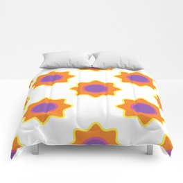 Background in the style of 60x. Stylized flowers on a white background. Comforters