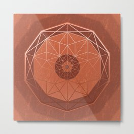 Geodis Magic Copper Metal Print
