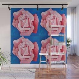 Perfume Delight - Pink Tea Rose Art Wall Mural
