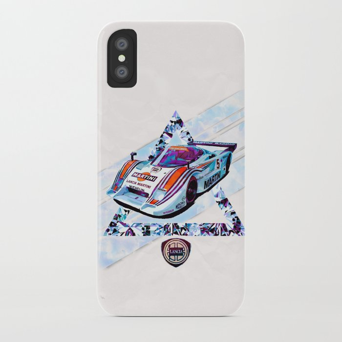 "Lancia LC2 ""Lancia-Ferrari""// Le Mans Race Cars iPhone Case"