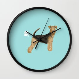 Airedale Terrier funny fart dog breed gifts Wall Clock