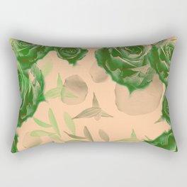 Floating Roses and Petals Rectangular Pillow