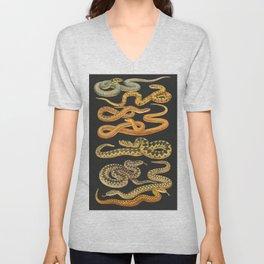 Snakes at Night Unisex V-Neck