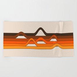 Golden Wavelength Beach Towel