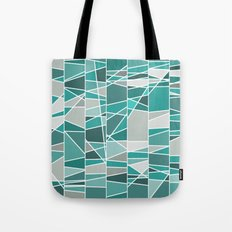 Turquoise and grey Tote Bag