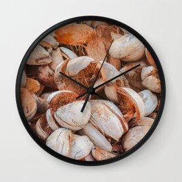 Coconut shells Wall Clock