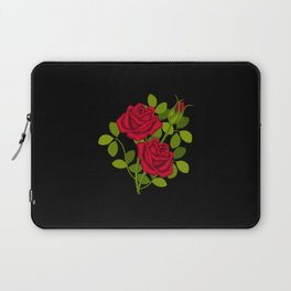 Painted Red Roses Laptop Sleeve