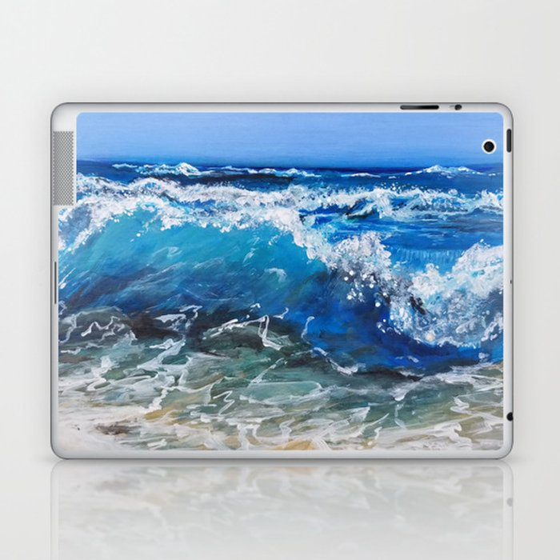 Rough Sea Laptop & iPad Skin