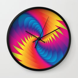 Blue Whirlwind Wall Clock