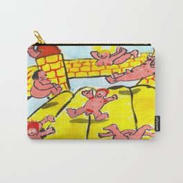 Pink People On Bouncy Castle Carry-All Pouch