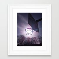 basketball Framed Art Prints featuring Basketball by Peter Dunne