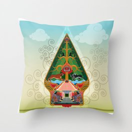 Wayang Gunungan or shadow puppets Throw Pillow