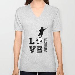 Eat, Sleep, Play  Love Volleyball Unisex V-Neck
