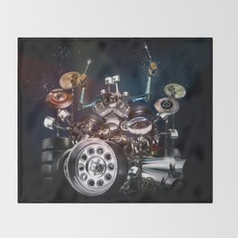 Drum Machine - The Band's Engine Throw Blanket