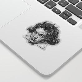 Ludwig Van Beethoven line drawing Sticker