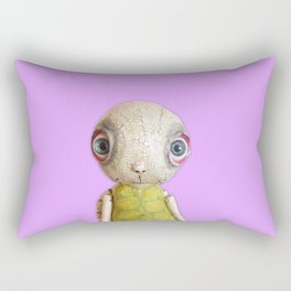 Sheldon The Turtle - Purple Rectangular Pillow