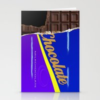 chocolate Stationery Cards featuring Chocolate by Nicklas Gustafsson