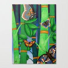 Bamboo & Butterflies Canvas Print