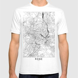 Rome White Map T-shirt