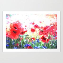 Poppy Haze Art Print