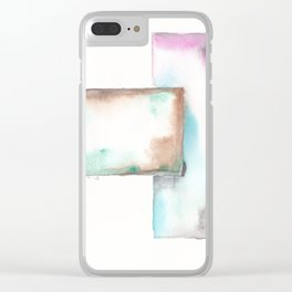 180914 Minimalist Geometric Watercolor 6 Clear iPhone Case