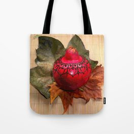 Henna Inspired Hand Painted Pomegranate  Tote Bag