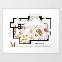 Mary Richards apt. from The Mary Tyler Moore Show Art Print