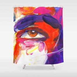 Mans eyes by ilya konyukhov (c) Shower Curtain