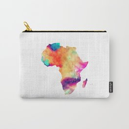 Africa map color brown Carry-All Pouch