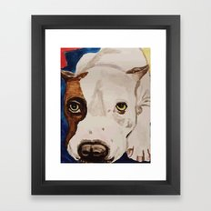 Pit Bull Portrait Framed Art Print