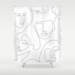 Crowd Portrait Shower Curtain