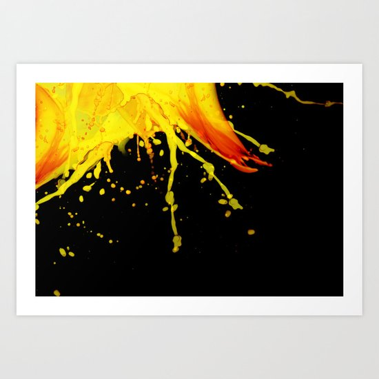 Splashing Paint Art Print