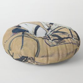 Ramon Casas And Pere Romeu On A Tandem - Digital Remastered Edition Floor Pillow