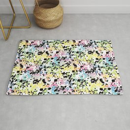 Colorful tie dye splash Rug