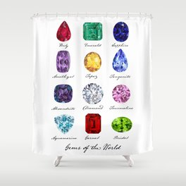 Gems of the World Shower Curtain
