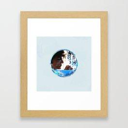 Crystals - Blue  Framed Art Print
