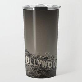 Vintage Hollywood sign Travel Mug