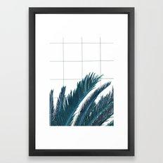 Blue Palms Framed Art Print