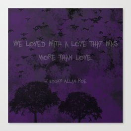 Edgar Allan Poe: Annabel Lee Canvas Print