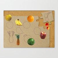 fruits Canvas Prints featuring Fruits by Nikolay Raikov