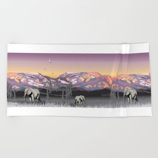 Elephantland Beach Towel
