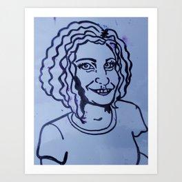 Illustration of self portrai/ icon  of my business Art Print