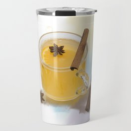 Digital Painting of Hot Apple Cider With Spices Travel Mug